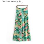 Boho Style Fashion Lotus Print Pants Holiday