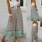 Palazzo High Waist Wide Leg Culottes Boho Floral