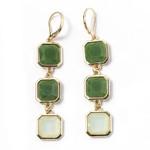 Green Long Earrings Fashion Jewelry Accessories