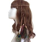 Boho Peacock Feather Headbands Bohemian