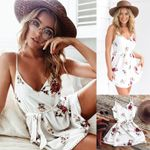 Floral Dress Mini Dress Casual Sexy Party Short Dress