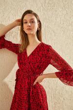 Trendyol Belted Floral Print Dress
