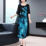 Vintage Chiffon Maxi Dress Elegant Party Dress Dresses