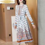 Print Floral Beach Dresses Fashion Midi Party Dress