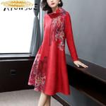 Print Floral Dress Party Dress Vintage Dress Elegant