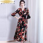 Dress Print Floral Midi Beach Dress Elegant Party Dresses