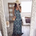 Boho Floral Long Maxi Dresses Casual Evening Party