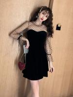 Mini Lace Black Sexy Dress Vintage Dresses