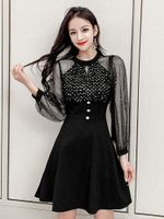 Vintage Elegant Dresses Black Sexy Dress