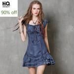 New Fashion Embroidery Sleeveless Gothic Mini Dress