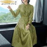 Fashion Midi Dress Party Dress Vintage Vestido Mujer