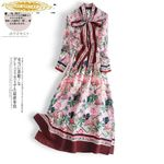Real Silk Dress Fashion Midi Party Dress Vintage