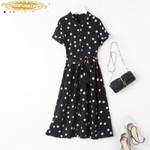 Real Silk Dress Fashion Midi Beach Dress Vintage