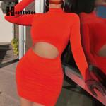 Sexy Hallow Out Bodycon Mini Dress