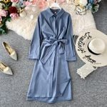 Vintage Elegant Party Chiffon Shirt Dress