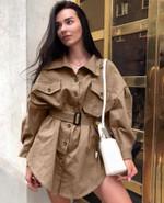 Long Sleeve Mini Office Lady Shirt Dresses