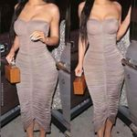 Off Shoulder Bodycon Bandage Sexy Midi Dress