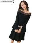 Off Shoulder Sexy Female Black Hollow Out Dress