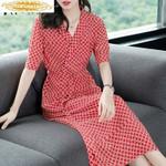 Real Silk Fashion Beach Dress Elegant Vintage