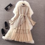 Long Early Fashion One Size Sweater Dress