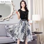 Real Silk Long Slim Print Dress Party Maxi