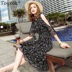 Silk Dress Long Print Elegant Plus Size Party Dresses