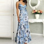 Floral Print Casual Long Wrapped Tied Side Sleeveless Dress