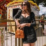 Bodycon Pleated Bandage Black Mini Dress