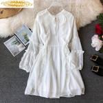 White Lace Chiffon Boho Beach Mini Dresses