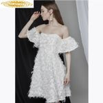 Formal Evening Gown White Lace Formal Dress
