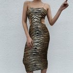 New Arrivals Sexy Sleeveless Knee Length Leopard Party Dress