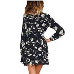 New Style Leopard Clothes Fashion Long Sleeve V-Neck Dress