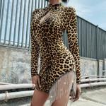 Vintage Skinny Black Party Club Hollowed Elastic Dresses