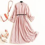 Maxi Clothes Vintage Ladies Pink Long Dresses