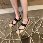 Flats Shoes Square Toe Slip On Soft Leather Casual