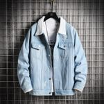 Warm Jean Jacket Cool Hole Denim Coat Thick Fashion