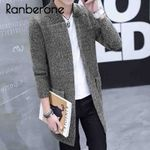 Long Knitted Cardigan Casual Solid Color Cardigan Coat