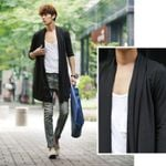 Trendy Solid Cotton Jackets Casual Had Knitted Coats
