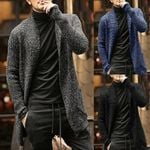 Sweater Knitted Cardigan X-long Knitted Coat