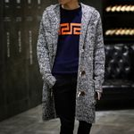 Cardigan Hooded Sweaters New Fashion Male Long Coat