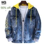 New Hooded Denim Jackets Loose Fit Single