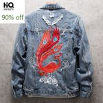 Denim Jackets Long Sleeve Single Breasted Lapel