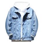 fashion new lapel denim jacket personality Slim