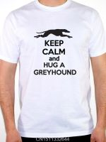 Cotton T Shirts Short Graphic Keep Calm And Hug A Greyhound