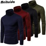 New Warm Cotton High Neck Pullover Jumper Sweater