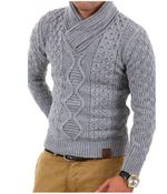 Sweater Casual Turtleneck Pullover Slim Fit