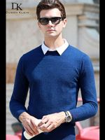Casual O-Neck Pullover Slim Fit Long Sleeve Shirt Sweaters