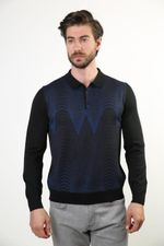 Sweater Polo Collar  Wool Sweater