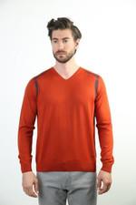 Sweater V Collar Woolen Sweater