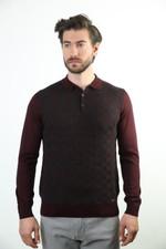 Sweater Polo Collar Wool Sweater